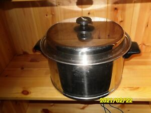Lifetime 6 QT Stock  Pot T304 Skillet 18-8 Stainless Steel With Lid 10 1/4""