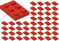 ☀️50x NEW LEGO 2x3 RED Plates # 3021 BULK Parts City Star wars
