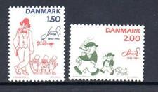 Denmark Mnh 1982 Sg749-750 Birth Centenary Of Robert Storm Petersen