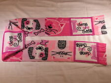 Cats and Dogs on Pink I Love Dogs and Cats Fleece Scarf
