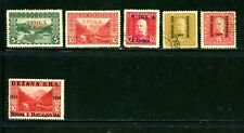 Bosnia and Herzegovina - outstanding selection of 6 overprint stamps - MH