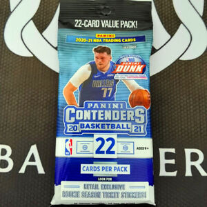 BRAND NEW 2020-21 Panini Contenders NBA Basketball 22 Card Value Fat Pack 2021