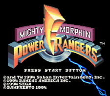 Mighty Morphin Power Rangers - Sega Genesis Game
