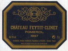 Étiquette Château FEYTIT-CLINET. 1997. POMEROL