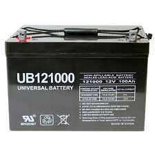 UPG 12V 100Ah Battery for AIMS Power PWRI100012S 1000W Pure Sine Power Inverter