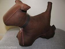 Chocolate Brown Matt Leather Puppy Dog Bumper Stop Wish Original Door Stop