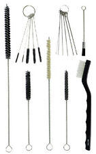 17pc Spray Gun Rifle Pistol Cleaning Brush Set - Black White Nylon Tube Nozzles