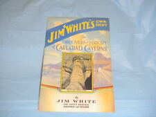 Vintage Carlsbad Caverns Discovery Signed Book J. White 1940