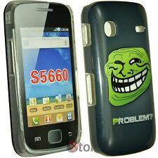 Cover Custodia Per Samsung Galaxy GIO S5660 Problem? Meme Troll Face