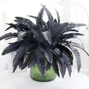 Black Persian Grass Artificial Ferns Flower Arrangement Decor Home Plants Wall