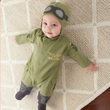 """Baby Pilot Two-Piece Layette Set in Gift Box Air Force """"Big Dreamzzz"""" Baby Aspen"""