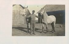 RPPC,Man with 2 Horses,c.1910