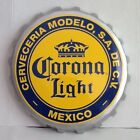 """Corona Light Beer Bottle Cap Tin Metal Sign Man Cave Sign Display Sign  17 1/2"""""""