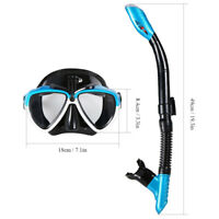 Mask Swimming Scuba Diving Face Snorkel FullFog Anti Dry Breath Adult Underwater