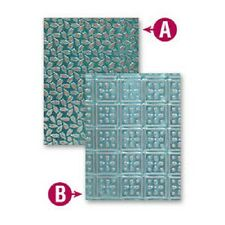 SPELLBINDERS M-BOSSABILITIES PATCHWORK EMBOSSING FOLDER 2 DESIGNS 5x7in  EL-003