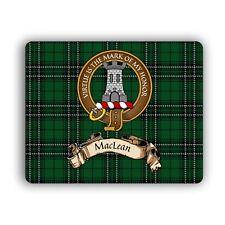 MacLean Scottish Clan Hunting Tartan Computer Mouse Pad Mat