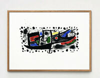 Exceptional Original Joan Miro Lithograph, Listed Mid Century Modern Orig. 1960s
