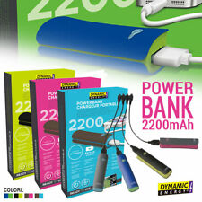 Power Bank 2200mAh USB 2.0 Caricabatteria Portatile Smartphone Dynamic Energy