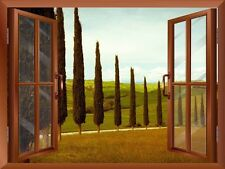 """Wall26 - Tuscan Countryside with Cypress and Meadow / Wall Mural - 24""""x32"""""""