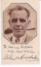 DUTCH VIOLINIST & CONDUCTOR WILLEM VAN HOOGSTRATEN c.1930 SIGNED PORTRAIT