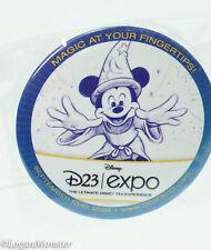 Disney D23 Expo 2009 Button Badge Sorcerer Mickey Mouse