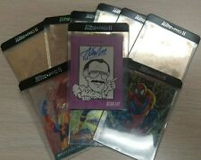 1992 Marvel STAN LEE AUTOGRAPH Trading Card Signed Signature + Holographic Cards