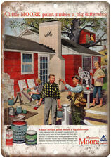 """Benjamin Moore Paints House Painting Ad 10"""" X 7"""" Reproduction Metal Sign Z71"""