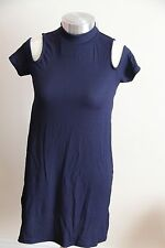 S-MISS WOMEN'S NAVY CUT out Sul Retro Vestito in nylon elastan costola Design Taglia' 8'