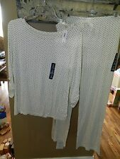 Gap Body Sleep Pajamas Set Polka Dots Size Medium (Top) XLarge (Pants) Womens