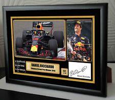 Daniel Ricciardo 2018 Winner F1 China Grand Prix Canvas Print Signed Great Gift