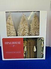 New Opalhouse Target BottleBrush Tree Garland Cream Gold Glitter 6ft Christmas