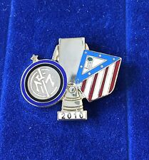 "INTER FC PINS FINALE SUPERCOPPA EUROPEA 2010 MONACO N: 038"" clips (bottone)"