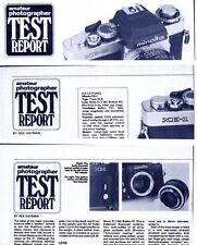 Amateur Photographer Magazine Camera Test Reports , MINOLTA XM XK , XE-1 & XE-5