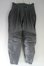 "WEISE BLACK LEATHER BIKER TROUSERS + CE ARMOUR SIZE 14: WAIST 30""/INSIDE LEG 29"""