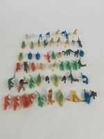 Dinosaur Lot Of 58 Figurine  Prehistoric Figures Toy Lot Rubber Plastic