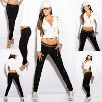 New Women Clubbing Black Skinny Jeans Sexy Ladies Slim Trouser Size 6 8 10 12 14