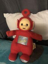 Vintage 1998 Hasbro Playskool Red Teletubbies PO 12-Inch 90s Plush Stuffed Toy