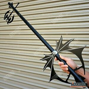 "36"" Kingdom Hearts Pumpkin Head METAL Key Blade Sword Fantasy Anime Xmas Cosplay"