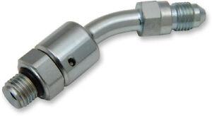 Drag Specialties Steel AN #3 Hydraulic Clutch Line Adapter 1742-0485