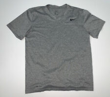Nike T-Shirt Size Men's M Gray Dri-Fit Athletic Work Out Training