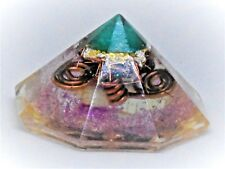 Orgonite Protection Healing Tool, Black Tourmaline, Gold & Silver Jewelry