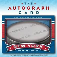 The Autograph Card Blank Signature cards 25 HOCKEY for New York Rangers Auto