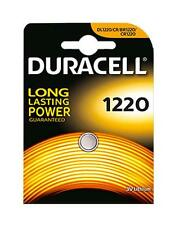 3x Duracell 1220 3V Lithium Coin Cell Batteries CR1220/DL1220 Battery - New