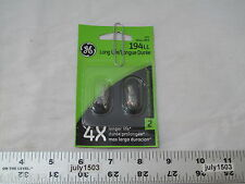 Two (2) GE 194LL Miniature Lamp Bulb 4w T3-1/4 Wedge 12 volt 12v Free Shipping
