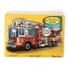 Melissa & Doug Actual Fire Truck Sound Puzzle (9 Pieces) NEW FACTORY SEALED!!