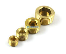 "10 Pieces 3/8"" BSP Brass Pneumatic Pipe Plug Hex Head Socket Plug Fuel Fitting"