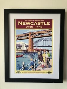 Vintage A4 Railway Poster Prints Newcastle Upon Tyne