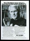 1978 Pittsburgh Steelers Terry Bradshaw photo Sinclair mini TV set photo ad photo
