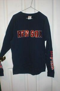 Victoria's Secret PINK Boston Red Sox Crew Sweatshirt Size XS