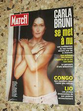 AFFICHE POSTER PUBLICITE PARIS MATCH 2003 CARLA BRUNI SARKOZY